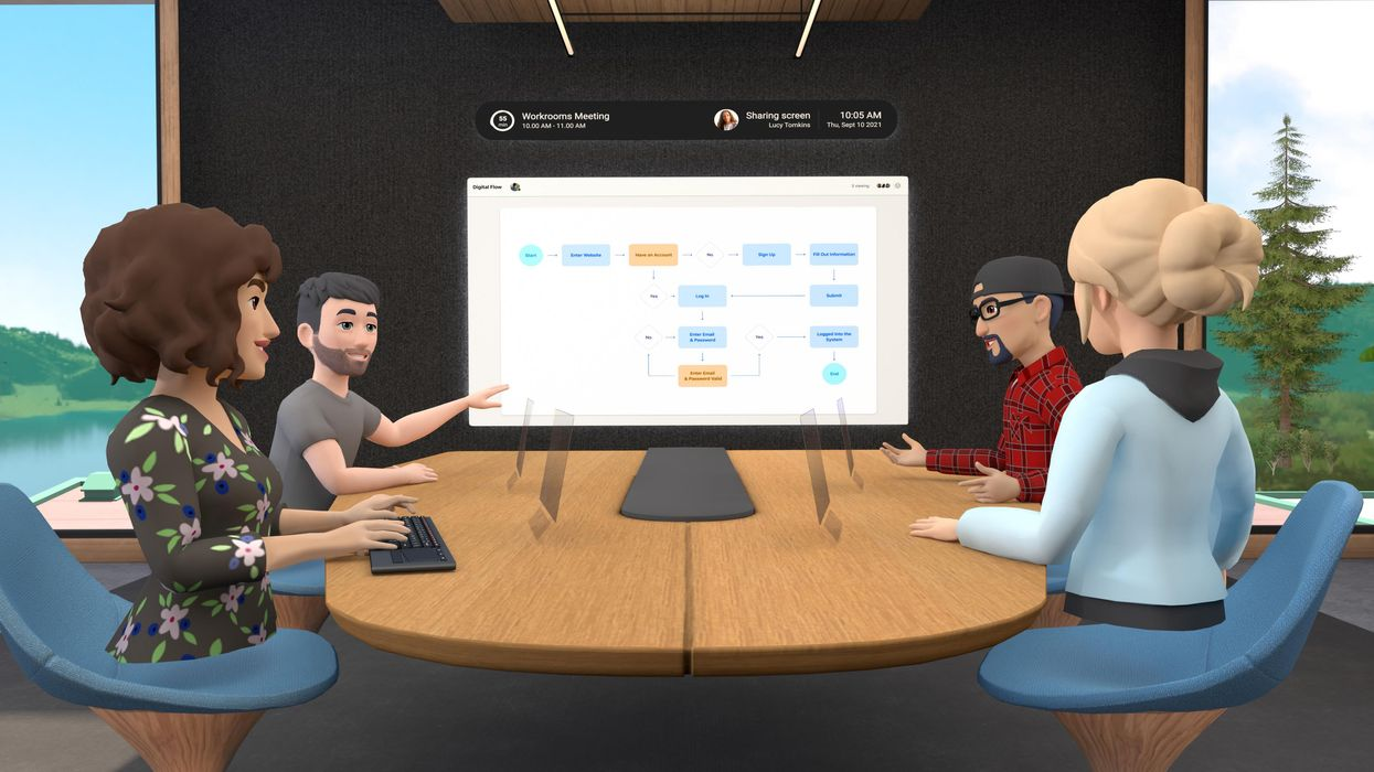 Image of a VR meeting