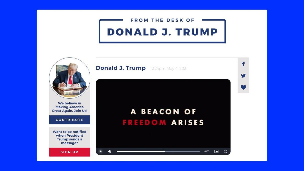 Donald Trump launched a social network, and he's the only user