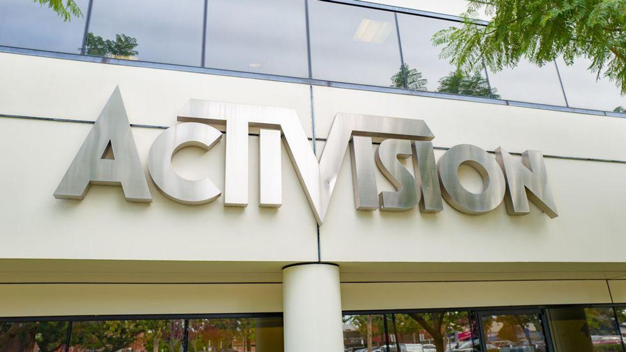 An image of Activision's company logo.