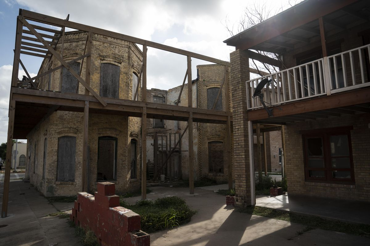 Empty buildings in downtown Brownsville, Texas