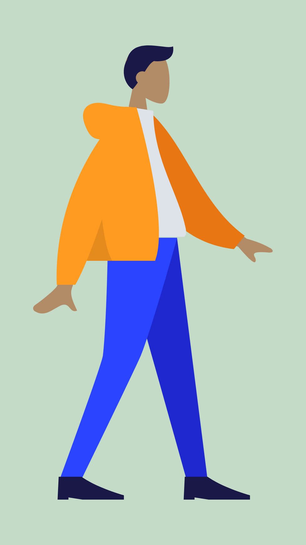 A self-portrait designed in the Humaaans engine.