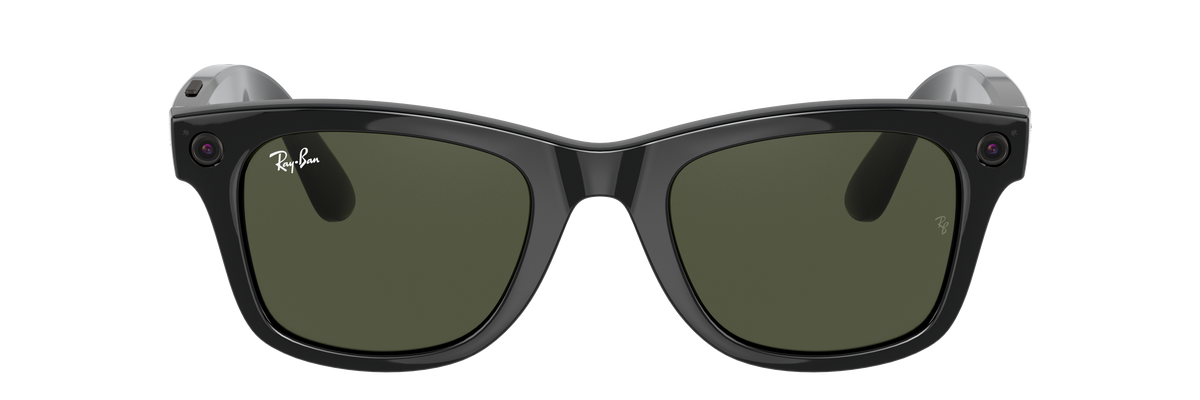 A photo of Facebook's new Ray-Ban Stories smart glasses.