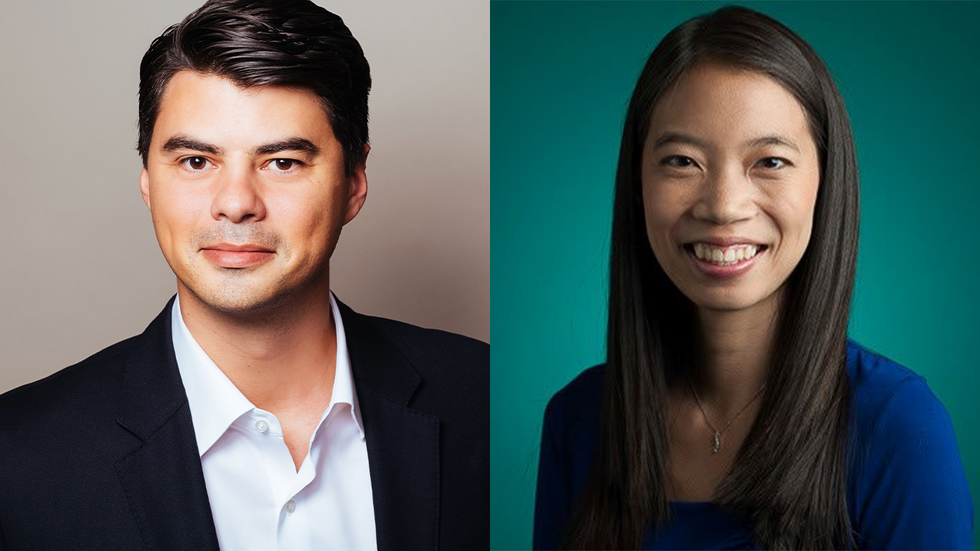 Ethos co-CEO Peter Colis (left) and chief product officer Jenn Liu (right)