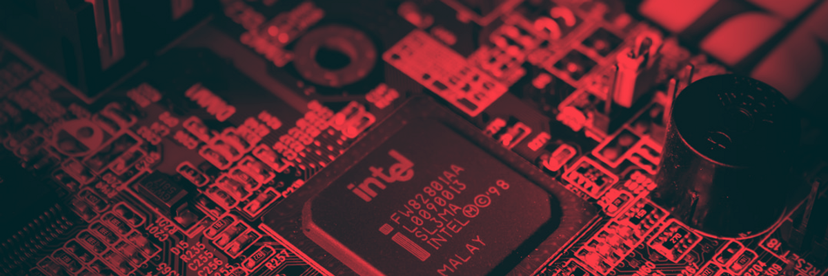 intel chip on a motherboard