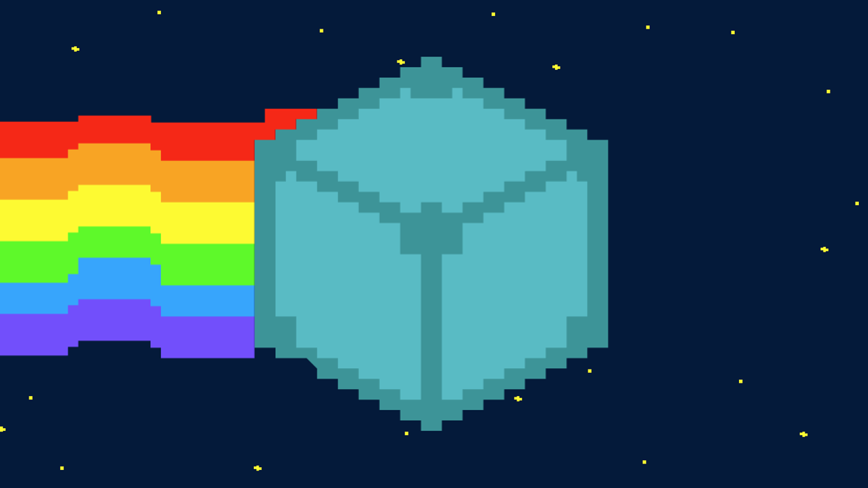 IPFS logo in Nyan Cat style.