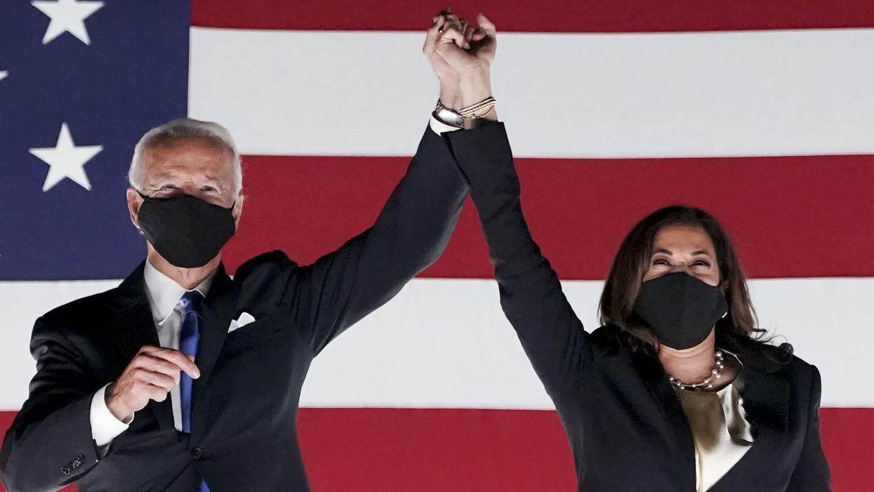 Joe Biden and Kamala Harris at the DNC