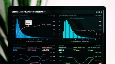 Dashboard of database metrics with charts and graphs