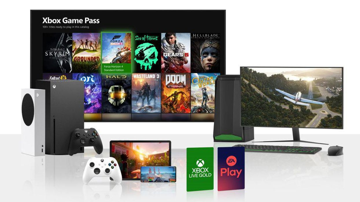 An image showing all the various devices supported today by Xbox Game Pass, including phones, computers, and consoles.