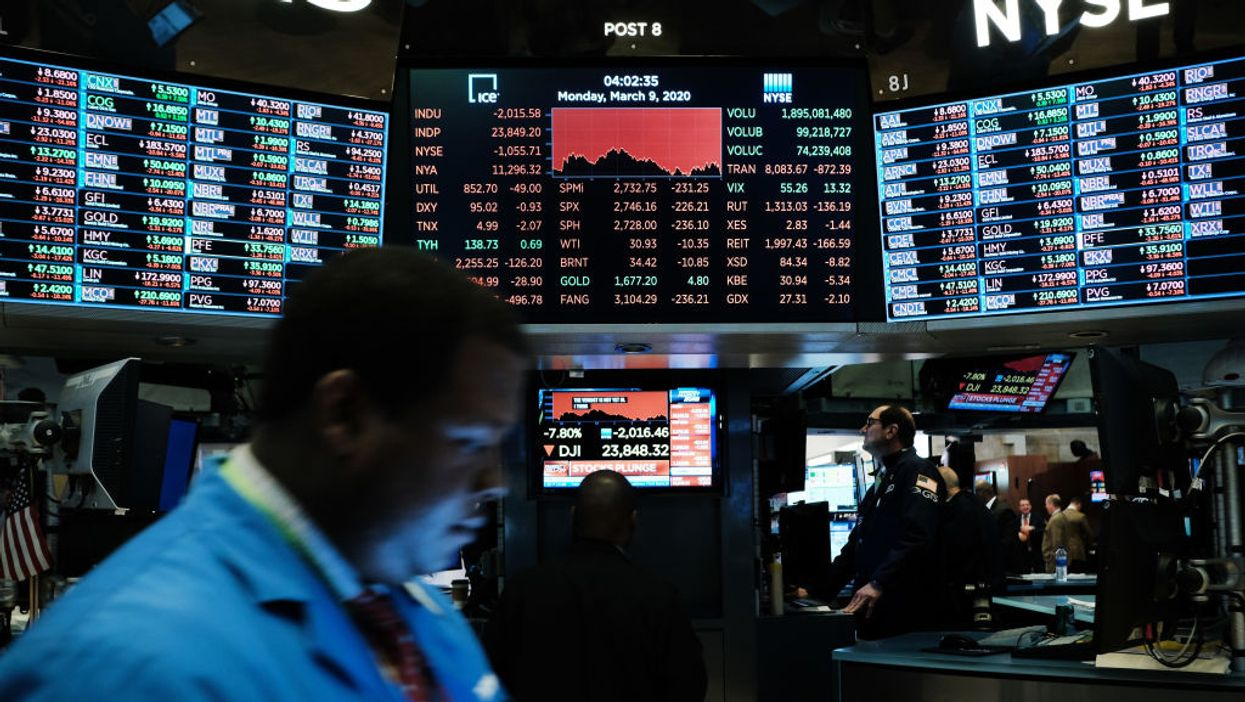 New York Stock Exchange on March 9, 2020