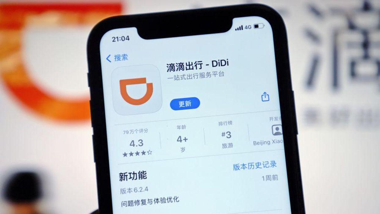 Phone with DiDi app