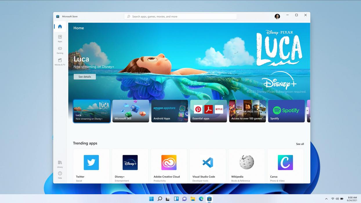 New Windows interface