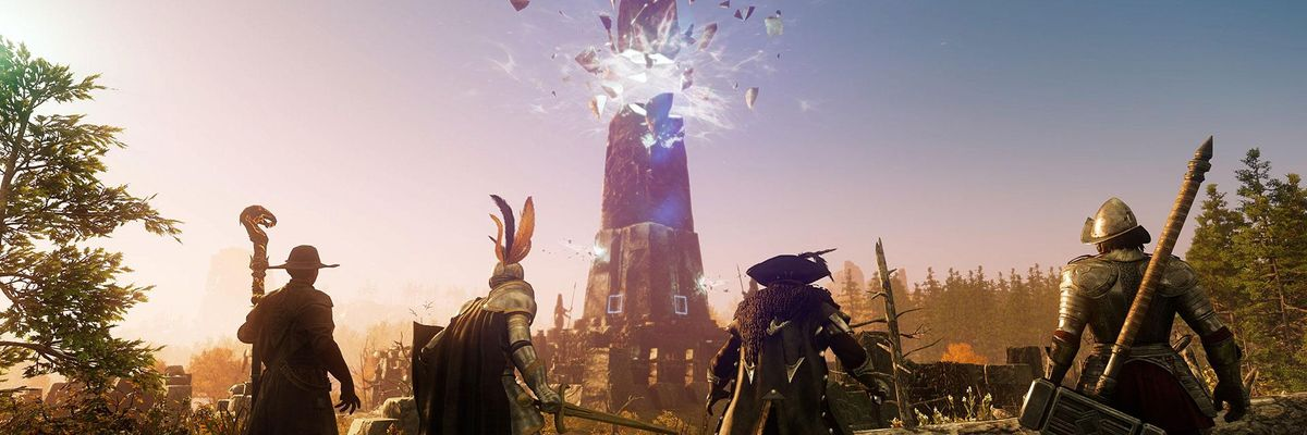 An image of virtual avatars in Amazon's upcoming MMO New World.
