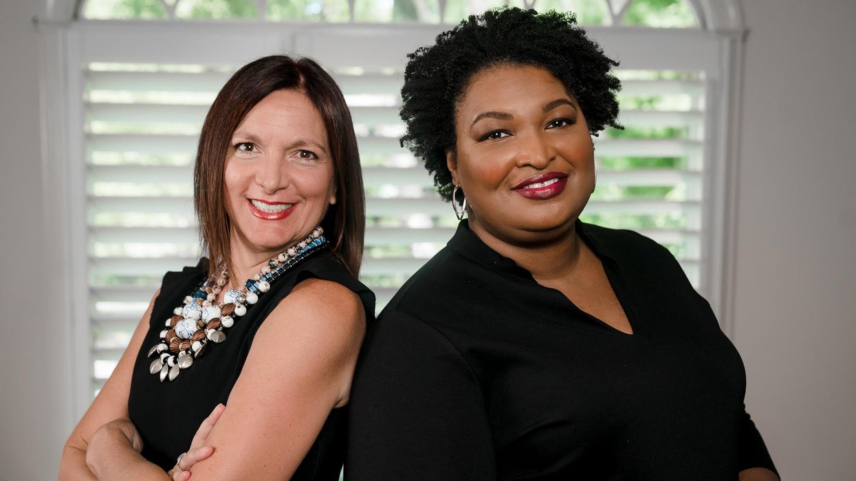 Now co-founders Lara Hodgson, left, and Stacey Abrams.