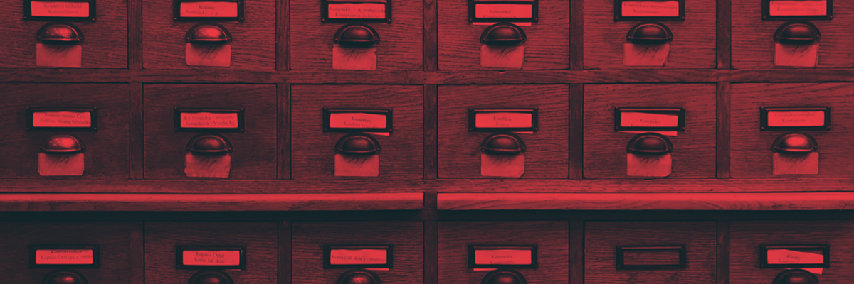 old card catalog filing system
