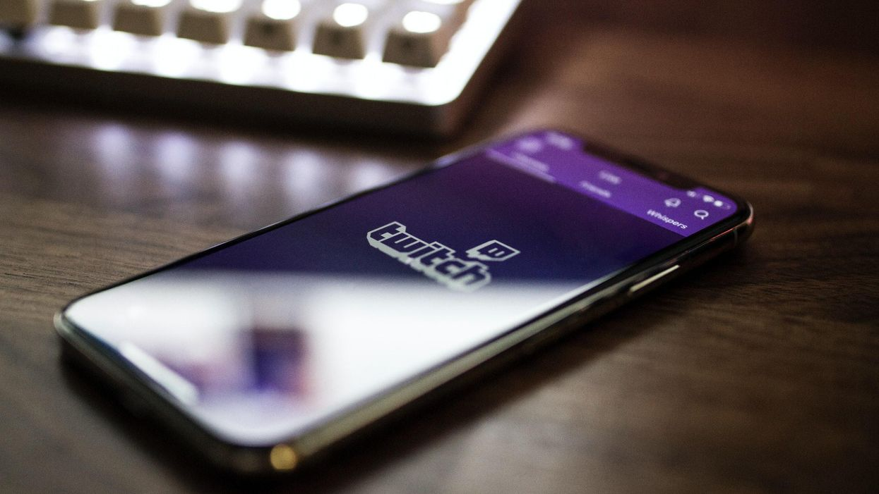Phone with Twitch app