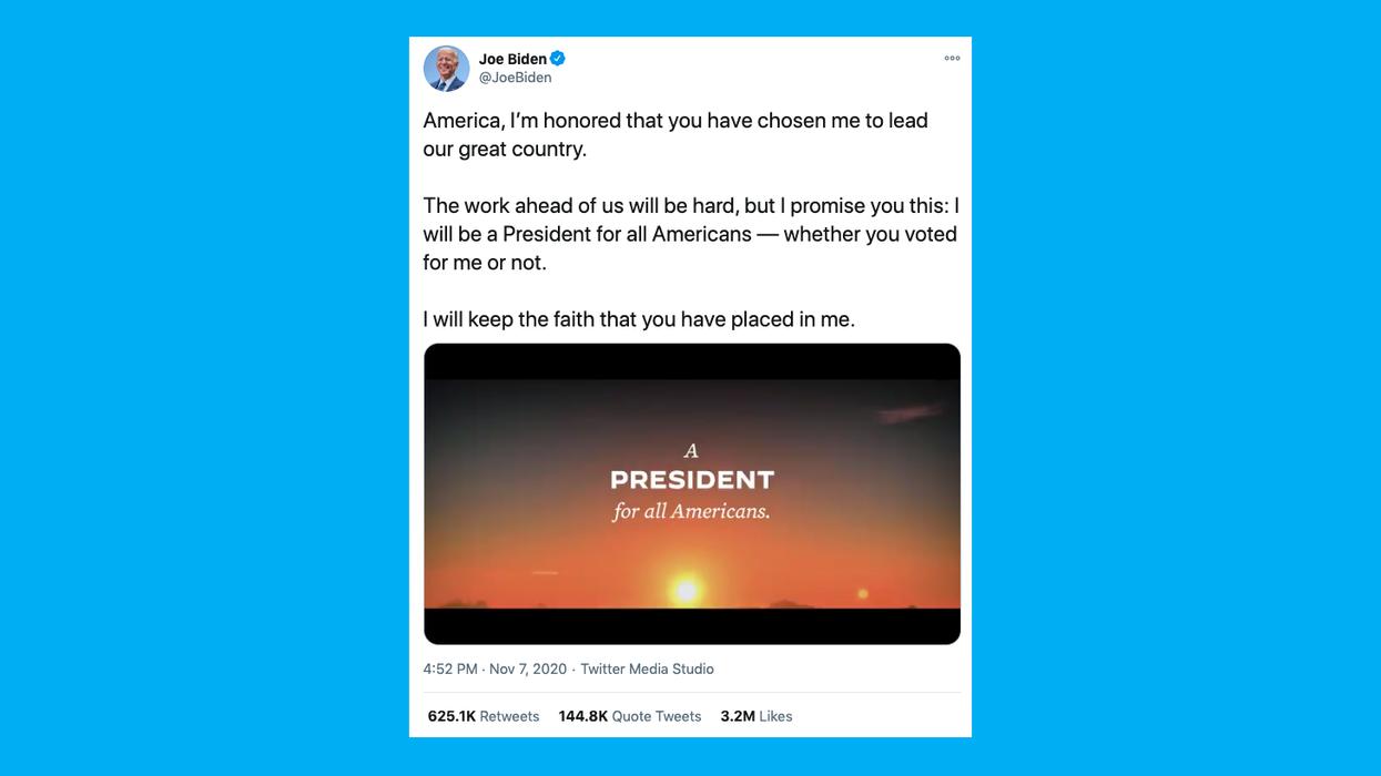 Despite Trump's incendiary tweets, Biden's beating him on Twitter
