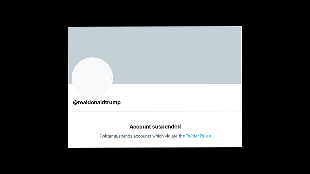 Twitter permanently banned President Trump