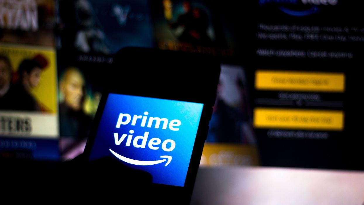 Prime Video logo on a phone
