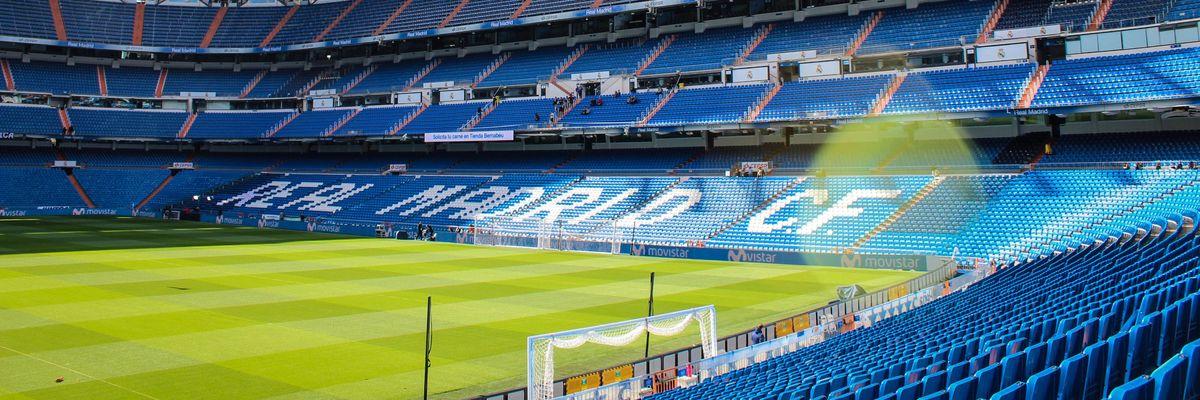 A soccer stadium.