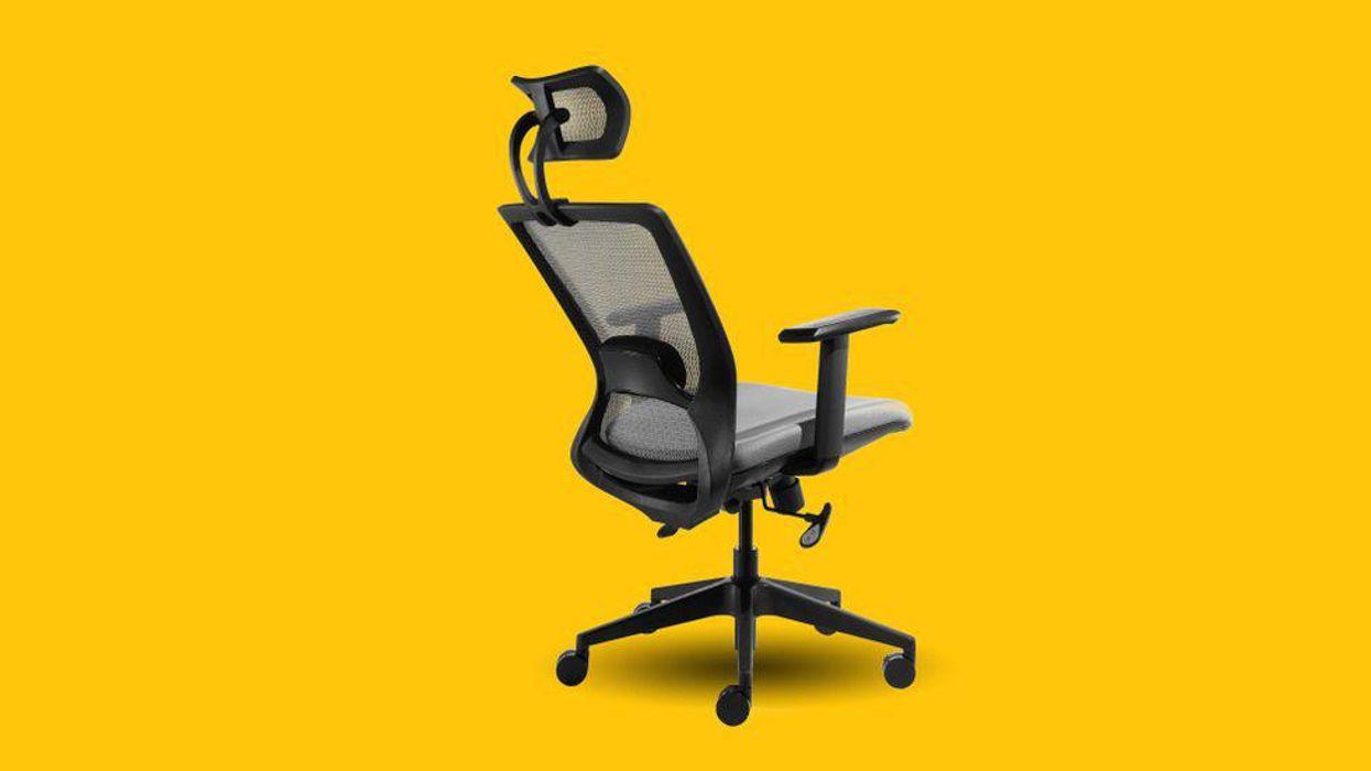 An office chair.