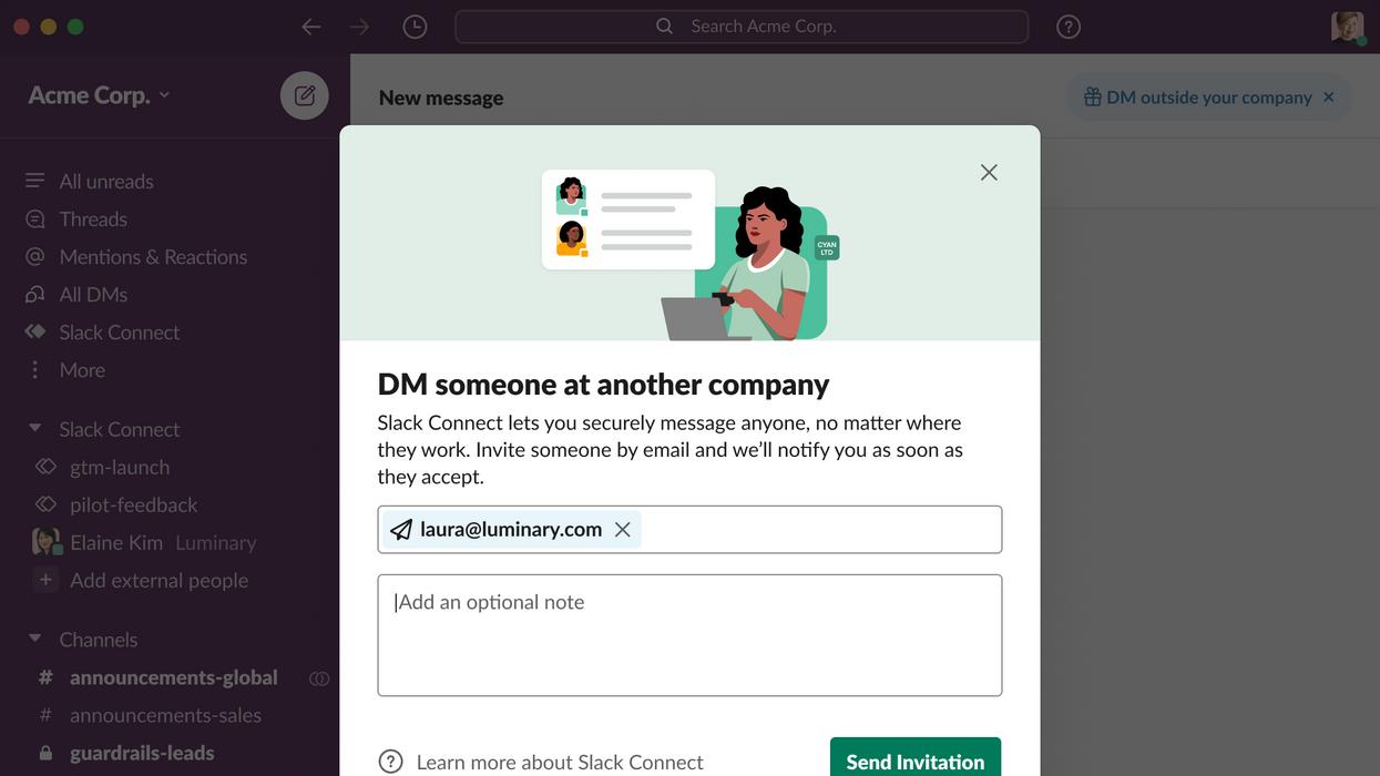 Slack Connect DMs