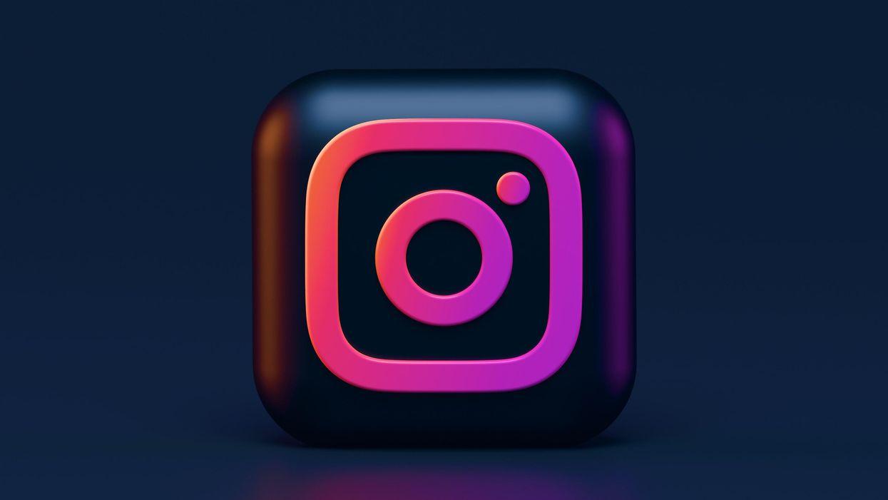 The Instagram logo on a dark background