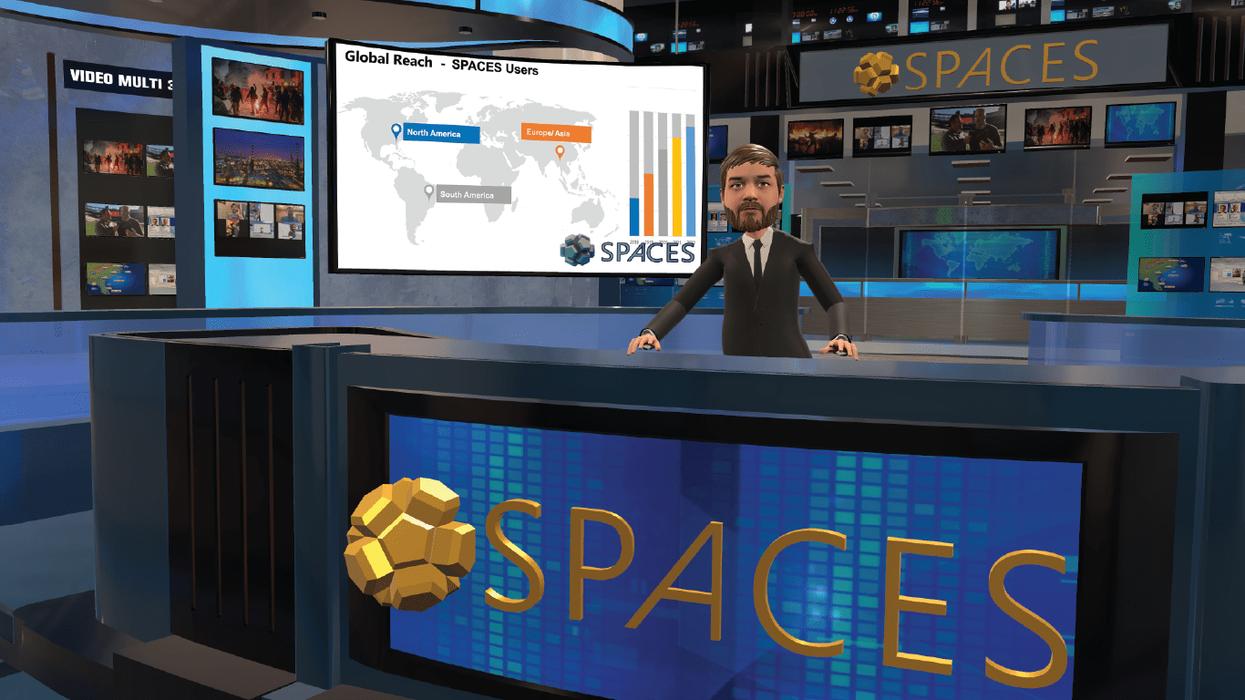 Spaces VR videoconferencing solution