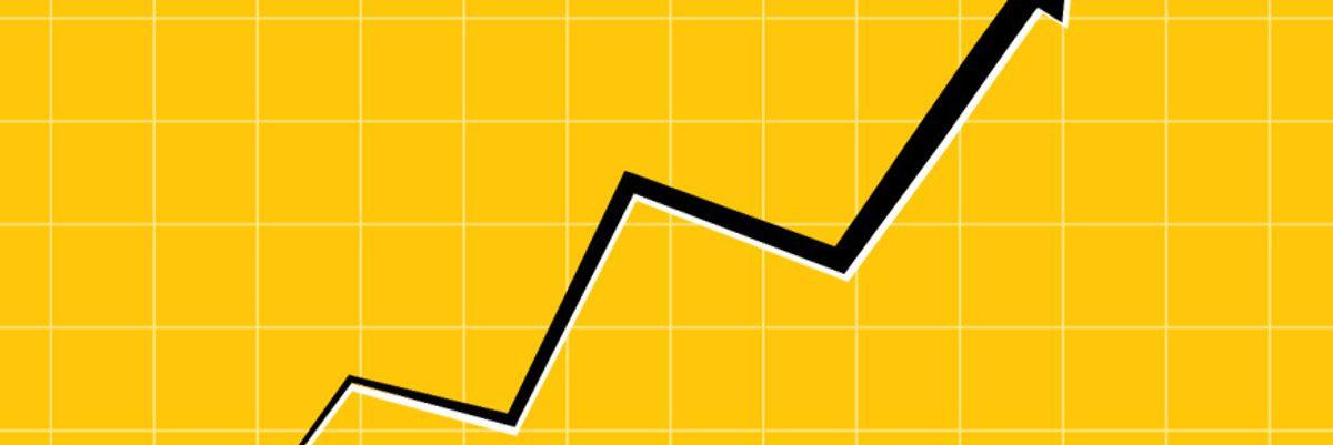Stock market up arrow