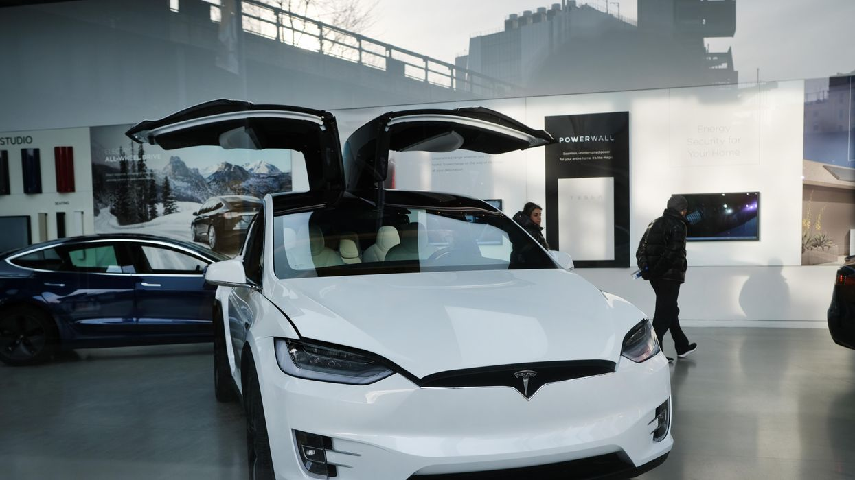 A Tesla vehicle.