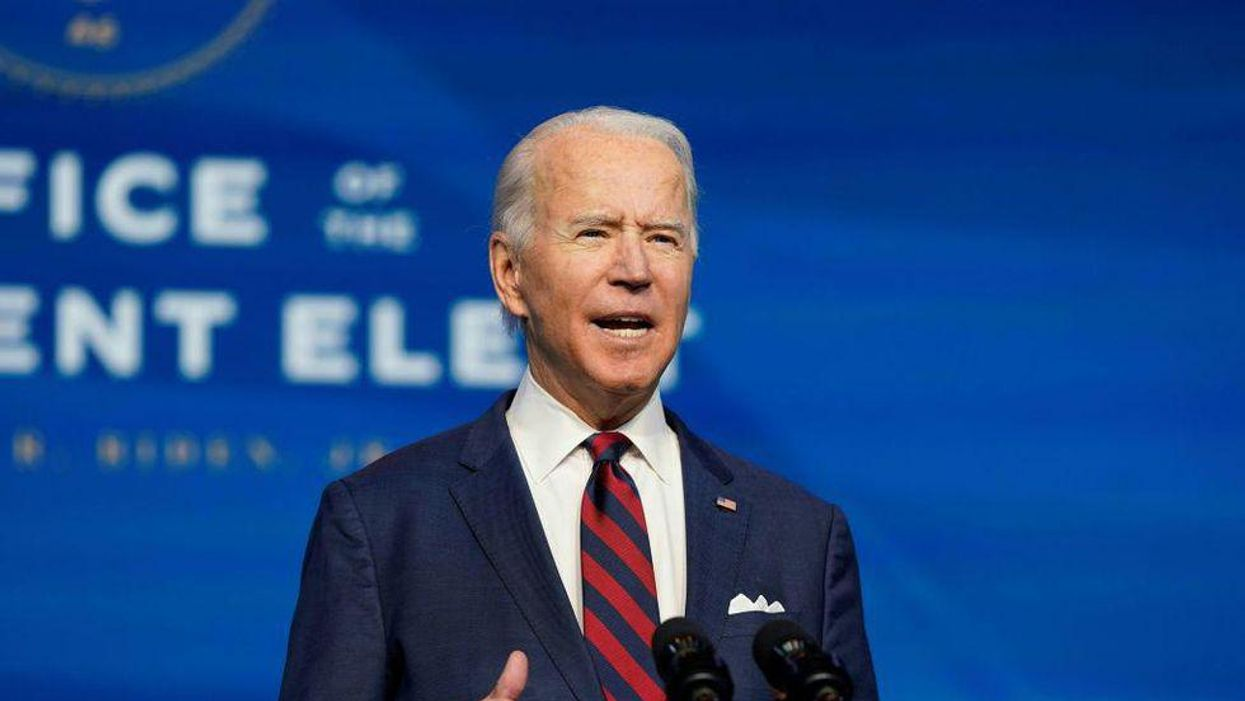 President Joe Biden delivering a speech