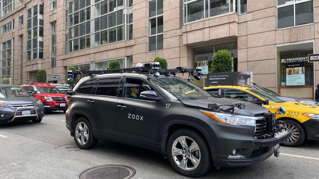 A Zoox car in San Francisco