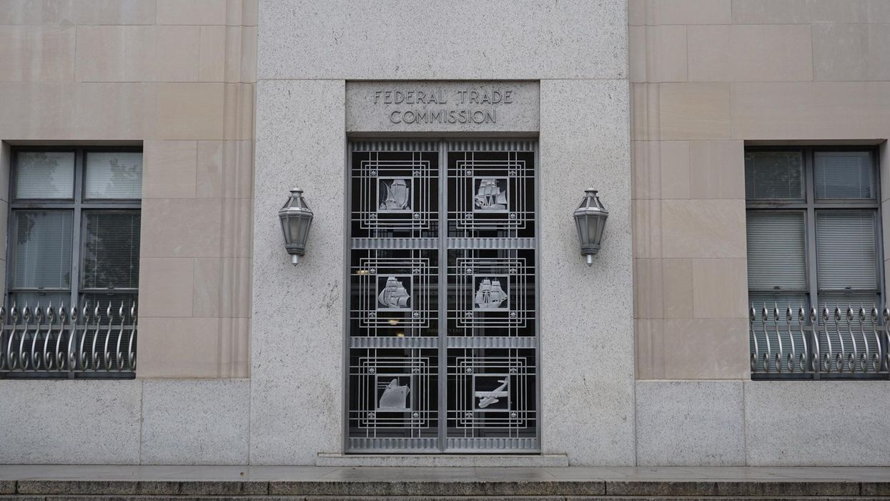 The entrance to the Federal Trade Commission building