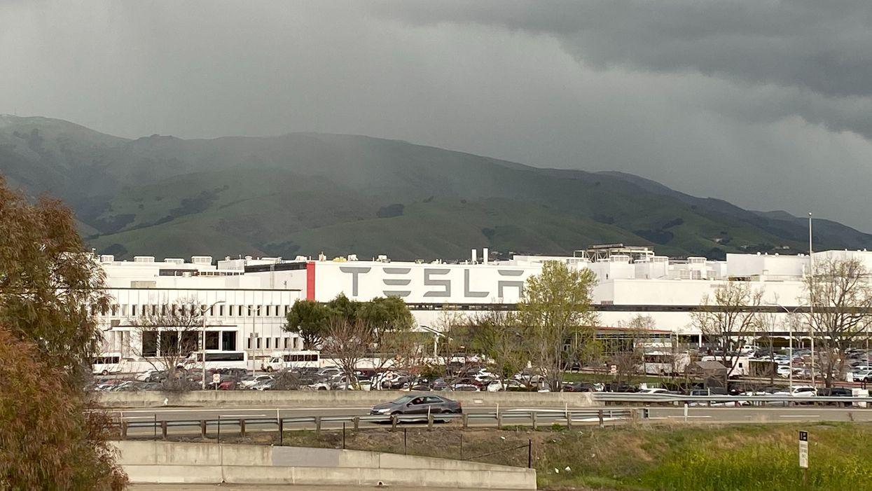 The Tesla factory