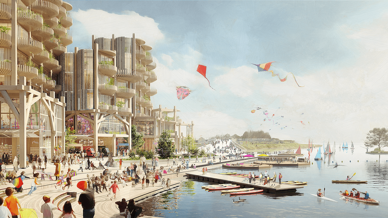 The Toronto of the future Sidewalk Labs imagined, in a project that's now stopping.