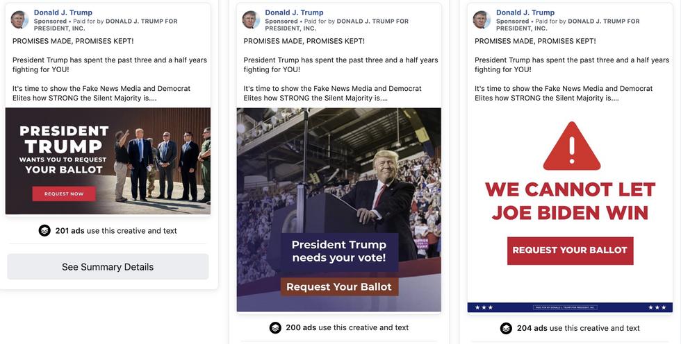 Trump's Facebook ads