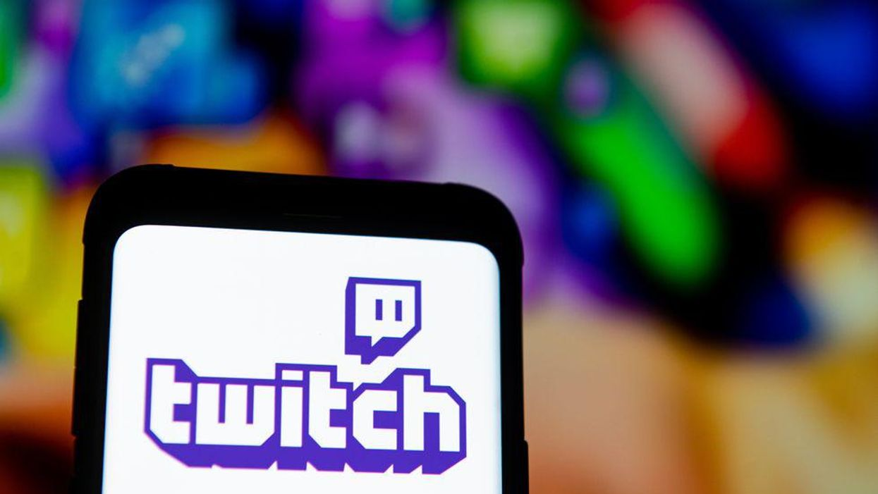 The Twitch logo on a phone