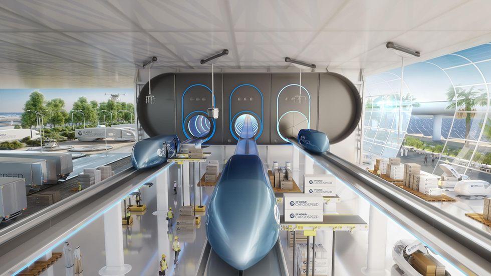 Virgin Hyperloop render