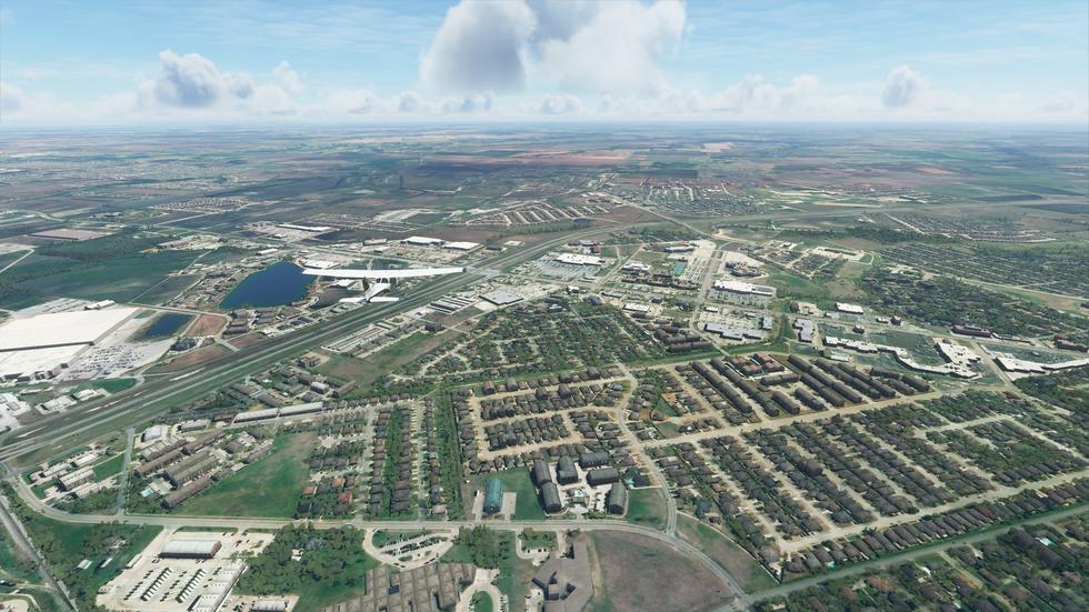 Waxahachie, Texas, in Flight Simulator.