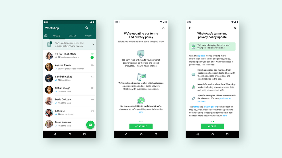 WhatsApp Business privacy
