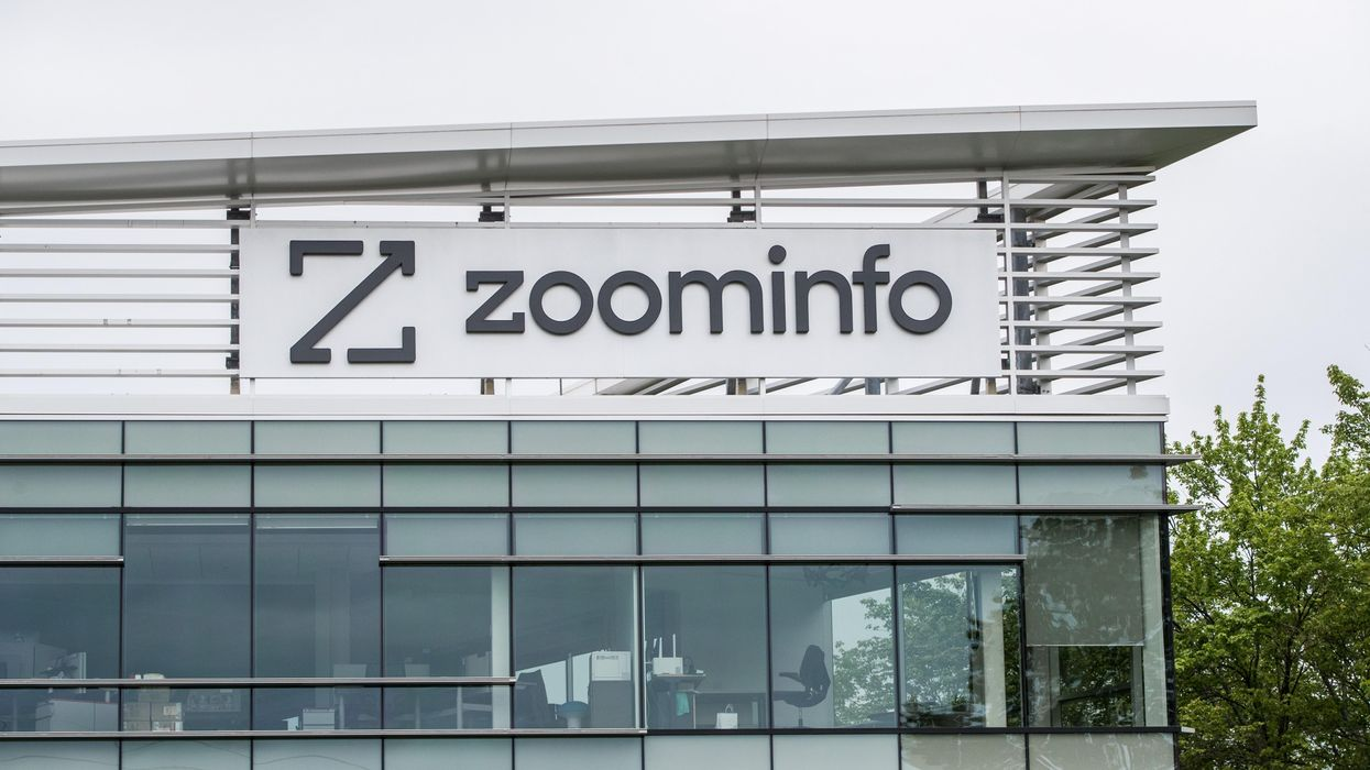 Exterior of the ZoomInfo office.